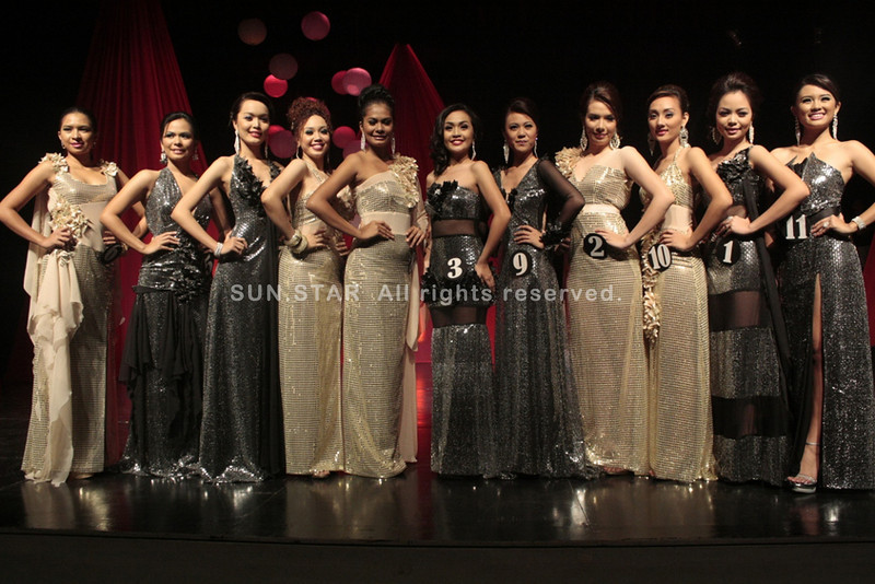 CAGAYAN DE ORO. The 11 candidates for this year's Ms. Kagay-an in their elegant gowns during Wednesday's long gown competition held at the Rodelsa Hall. Coronation night is slated on August 26. (Joey P. Nacalaban)