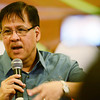 MISSING. Jesse Robredo, 54, is shown during a May 2012 visit to Cebu. He addressed a national summit of law enforcement volunteers in Mandaue City on Saturday, before flying home to Naga in a private plane. (Sun.Star file)