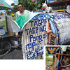 "DAVAO. This man, Peter Ticon, has lived in his culvert home along Del Pilar Street in Barrio Obrero for three years now. The words he painted on his tiny home has brought a smile to many motorists as he gives thanks to God for what he has and reminds everyone with the words of Mother Theresa of Calcutta: ""What you spend years building, some could destroy overnight."" (Sun.Star Davao/King Rodriguez)"