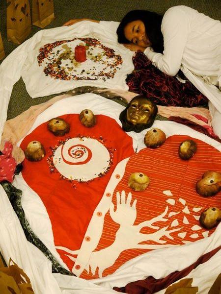 CAGAYAN DE ORO. A ritual of life as a great dance. An installation art by Maria Rosalie Zerrudo. (Maria Rosalie Zerrudo)