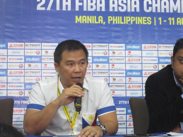 MANILA. Gilas Pilipinas mentor Chot Reyes sets sights on second round of the 2014 Fiba World Cup in Spain. (Virgil Lopez/Sunnex)