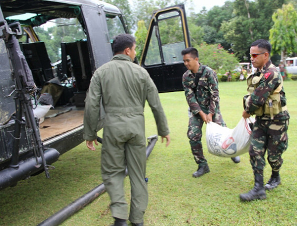 Aerial relief operation