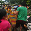 Fire victims salvage belongings
