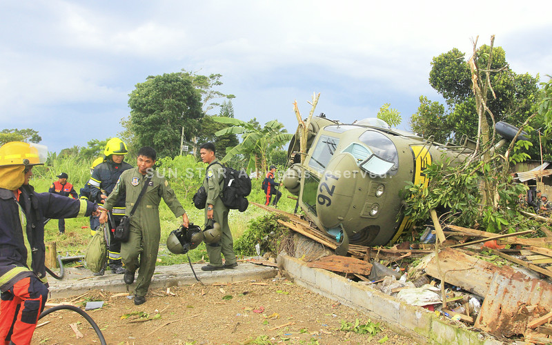AFP Sokol helicopter crashes in Camp Ranao, Marawi City