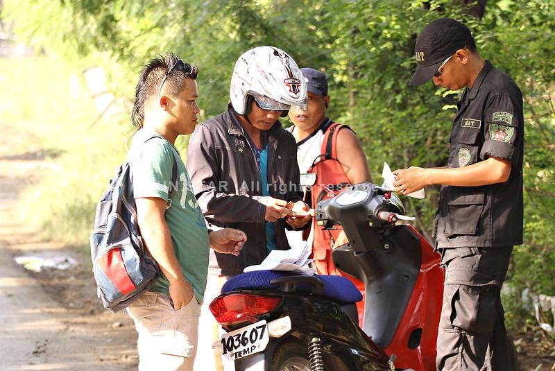 Police checkpoint in Cagayan de Oro