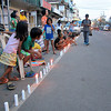 Candles lighted along Tacloban City street