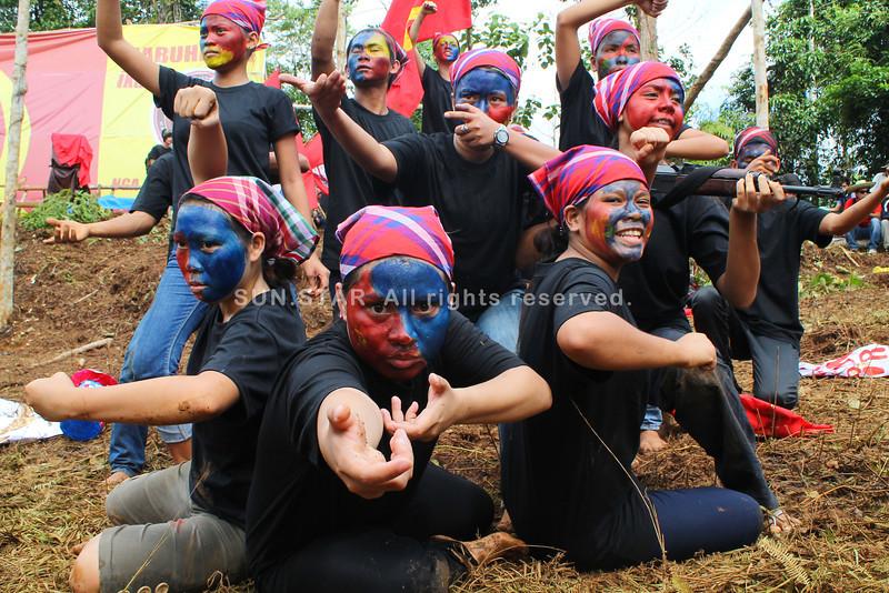 Communist rebels' cultural show