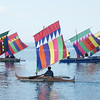 "ZAMBOANGA. Vintas with colorful sails serve as an added attraction at the scenic Paseo del Mar as the Department of Tourism launches Tuesday the ""Regatta de Esperanza."" (Bong Garcia)"