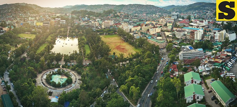 Panoramic aerial view of Baguio City
