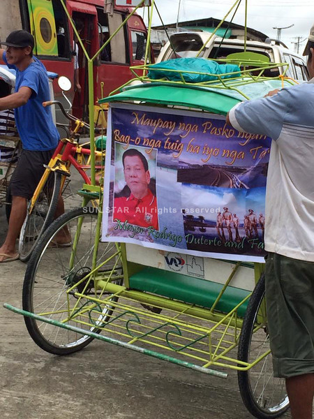 Duterte tarp even in Leyte