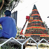 Giant Christmas tree in Davao City