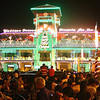 "ZAMBOANGA. People gather in front of City Hall, adorned by Christmas lights, that was switched-on Monday night during the opening of ""Pascua na Zamboanga."" (Bong Garcia)"