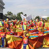 PAMPANGA. Dancers, wearing their colorful costumes, perform during the Pamamupul or Harvest Festival Grand Parade on Thursday. (Sun.Star Pampanga photo)