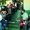 Motorists fall in line at DTI office to have their helmets approved and stickered during the last day of approval 28Dec2012.                                                                                 (SUNSTAR FOTO/ARNI ACLAO)