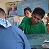 MISUMBONG sa Sta. Ana Police Station si Eddie Mabayo nga gilungkab ang iyang motorsiklo nga giparking sa dalang Monteverde ug Gempesaw diin nawala ang iyang pitaka nga gisulod sa U-box sa motor kagahapon sa buntag. (Seth Delos Reyes)