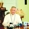 "CEBU. While stressing that the role of the bishops is to pray with its flock, Cebu Archbishop Jose Palma urged lay leaders to actively participate in the ""arena of politics"" as part of their duty as devout Catholics. Palma, the CBCP president, held a press conference at the Archbishop's Palace on Wednesday. (Sun.Star Photo/Allan Defensor)"