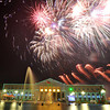 BACOLOD. Fireworks erupt at the Bacolod Government Center last year, as Bacolod celebrated the New Year's Eve with a countdown party. Aside from the 34-minute fireworks display, Bacoleños were also treated to water fireworks, lights shows, live bands and entertainment program. (Daryl Jimenea)