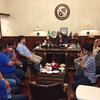 CEBU CITY - Naga City Mayor Valdemar Chiong and other officials show support Friday to suspended Gov. Gwen Garcia at the Capitol. (Nera Mariz Puyo-USJR intern)