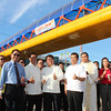 PAMPANGA. City of San Fernando Mayor Oscar Rodriguez and Public Works Undersecretary Rafael Yabut lead the blessing and inauguration of the P19-million footbridge along Jose Abad Santos Avenue, City of San Fernando on Monday. (Chris Navarro)