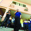 HOME BASES. Guadalupe Barangay Captain Michael Gacasan (left) turns up to show support for Councilor Jun Pe (holding phone) in Pe's residence on Duterte St., Calderon Compound, Guadalupe. (Sun.Star Photo/Ruel Rosello)