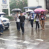 """CAGAYAN DE ORO. Students brave through heavy rains poured by """"Crising"""" on Tuesday as the storm battered several provinces in Mindanao. Classes went on as normal in all levels in Cagayan de Oro Tuesday. (Joey P. Nacalaban)"""