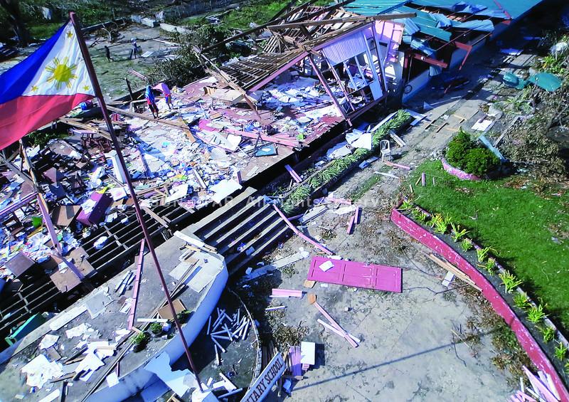 Medellin Dayhagon Elementary School after Typhoon Yolanda