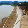 CAGAYAN DE ORO. In an effort to curb the effects of possible destructive flashfloods, the construction of a mega dike along the riverbank is underway from Ysalina Bridge that links Barangay Carmen and City Hall to Barangay Macabalan. (Joey P. Nacalaban)