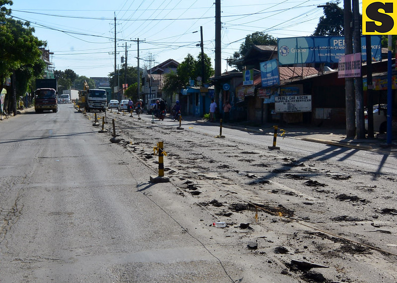 Road repair along D. Cortes St. Mandaue City