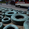 Used tires as dengue-breeding ground