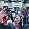 Cebu City Mayor Michael Rama takes a selfie with his department heads