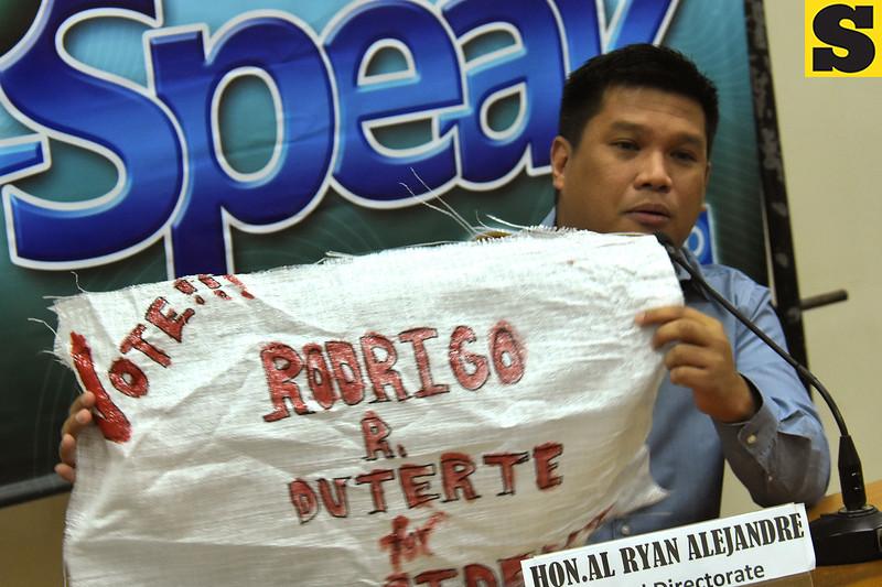 Duterte campaign material