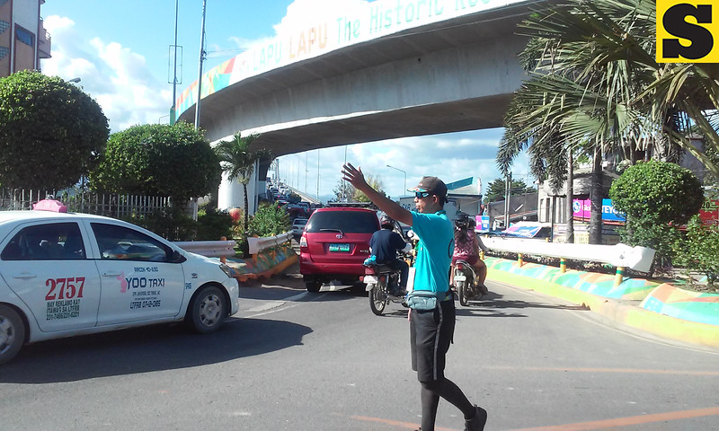 Traffic in Subangdaku, Mandaue City, during repair of Mactan-Mandaue bridge