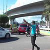 Traffic in Subangdaku, Mandaue City, during repair of Mactan-Mandaue bridge
