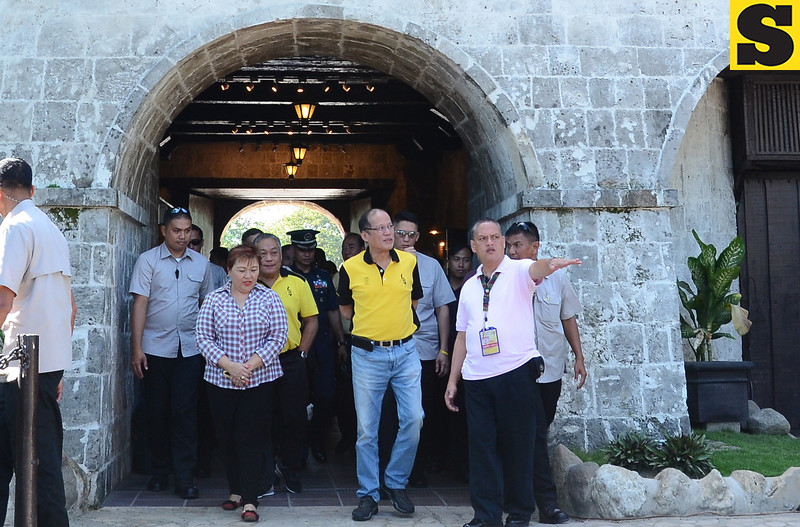 Aquino visit at Fort San Pedro, Cebu City