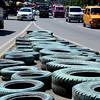 Used tires as dengue-breeding ground