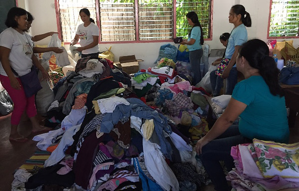 Clothers for Banago fire victims