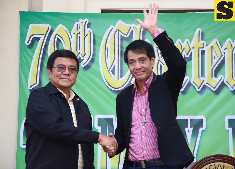 Cebu City Mayor Michael Rama was welcomed by  Edgardo Labella