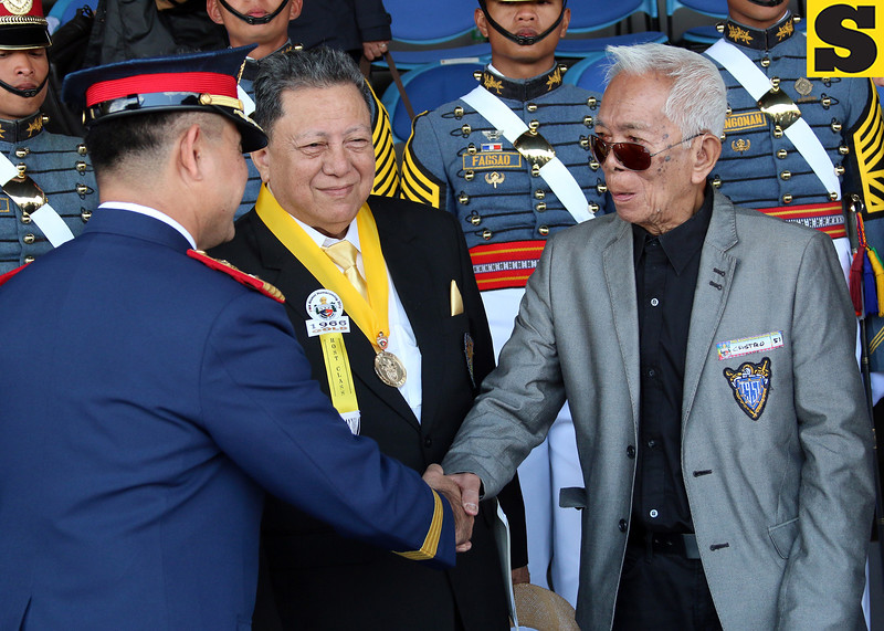 Major General Delfin Castro Sr. during PMA homecoming