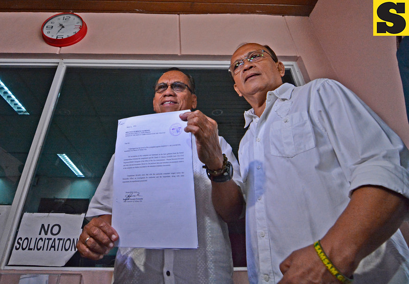 Complaints he filed against Talisay City Mayor Johnny de los Reyes