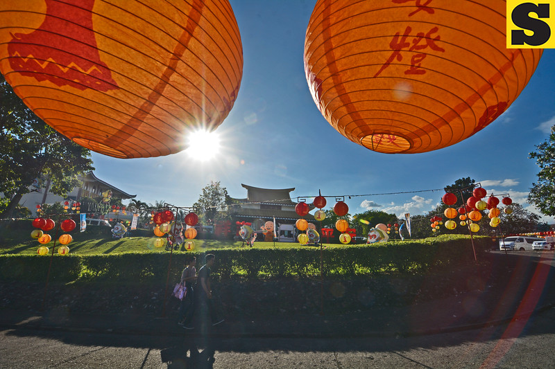 Chinese Lanterns add decors at the Fo Guang Shan Chu Un Temple
