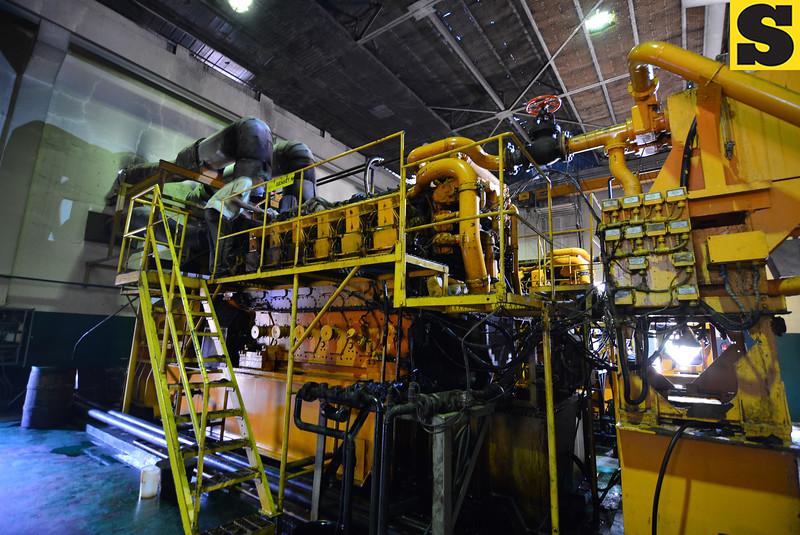 Newly reenergized 2.7-megawatt diesel generator 1 in Bantayan