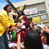 DAVAO. Devotees of the Black Nazarene flock around the statue to hand over their handkerchiefs that they want to be wiped on the image in the belief that this has miraculous powers. (Seth delos Reyes)