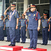 CHANGE OF COMMAND. Chief Supt. Catalino Rodriguez (left) assumes as the new regional director of the Philippine National Police (PNP) in Northern Mindanao Region, replacing Chief Supt. Gil Hitosis. A turnover ceremony was held Thursday at Camp Alagar. (Joey P. Nacalaban)