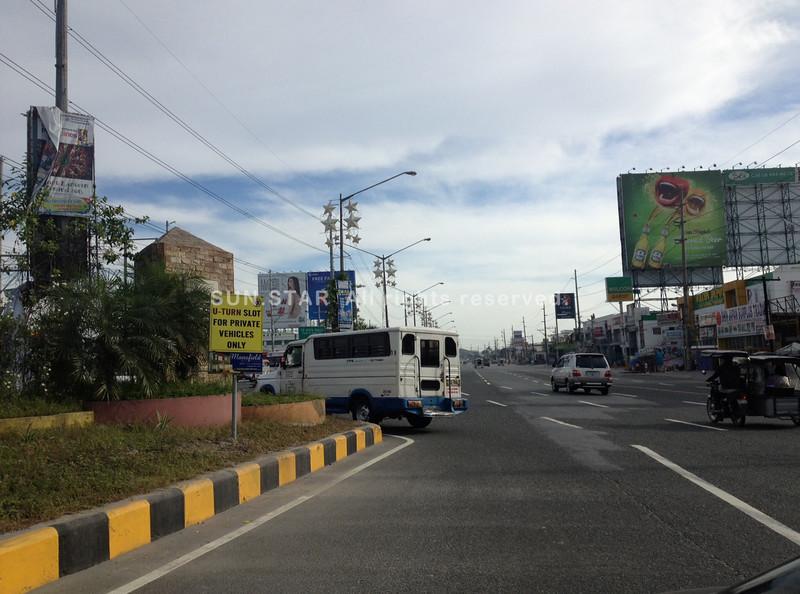 Jose Abad Santos Avenue hazard