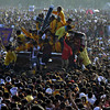 MANILA. Millions of Filipinos gather in Manila for the annual feast of the Black Nazarene at Quiapo district on Thursday. (Al Padilla/Sunnex)