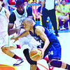 Steve Akomo (left) tries to stop Adam Mohammed in the opening encounter of the Sinulog Cup. (Photo by Amper Campana of Sun.Star Cebu)