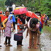 LANAO DEL NORTE. Commuters plying western and northern Mindanao are severely affected after the Larapan Bridge that links Linamon and Kauswagan towns collapsed as low pressure area hovered in Mindanao for a week. Today, communities in this part of Northern Mindanao brace for Tropical Depression Agaton. (Richel V. Umel)