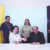 Sun.Star Management Inc. president Gina Garcia-Atienza (seated, left) and SGV Cebu Branch head and advisory services principal Washington A. Roqueza sign the memorandum of agreement for the Economic Forum on the 2015 Asean Economic Community on Feb. 19 at the Marco Polo Plaza Cebu. Behind them are (standing, from left) Sun.Star Management Inc. executive assistant Jet S. Pamatin, SGV Advisory Services - Performance Improvement senior associate Elaine Mae V. Alagao and SGV Advisory Services manager Charles Andrew C. Tan. (Sun.Star Cebu photo)