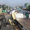Trucks collision in San Fernando, Pampanga