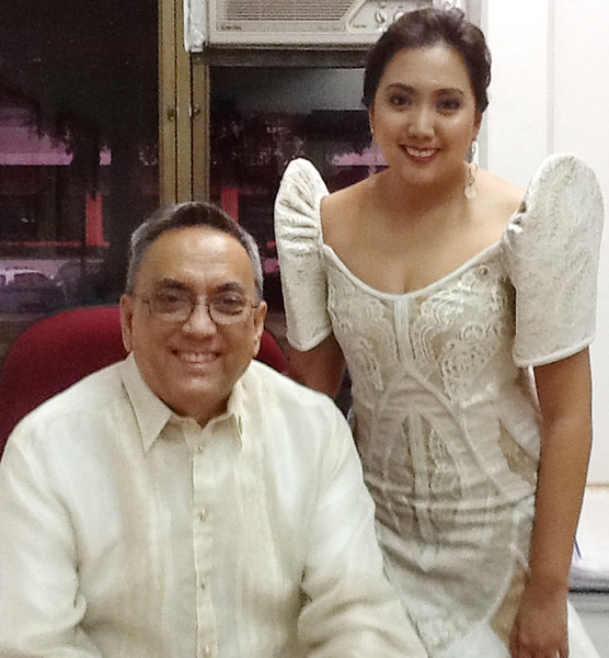 "BACOLOD. ""Will this be my last Sona?"" This was 6th district Rep. Mercedes Alvarez's status post on Facebook that accompanied this picture taken with her father Vice Governor Genaro Alvarez during President Benigno Aquino III's Sona last Monday. (Carla N. Cañet)"